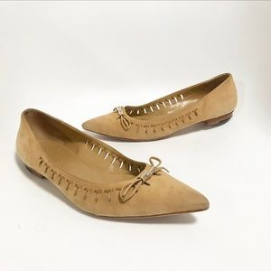 Gucci. Suede flats. Camel brown. Size 7.5